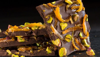Chocolate Orange Pistachio Bark