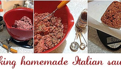 Making homemade Italian sausage for Thanksgiving stuffing