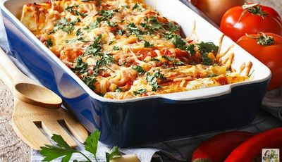 Too much turkey? Make Leftover Turkey Enchilada Casserole!