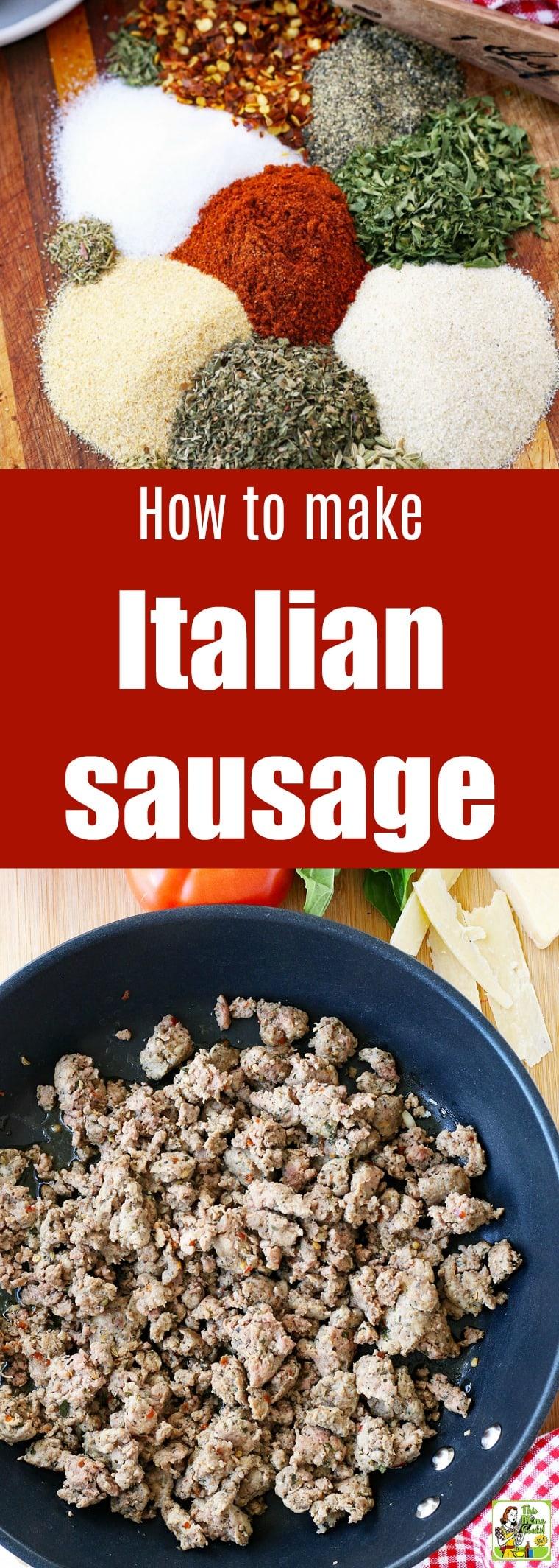 How to make a homemade Italian sausage recipe