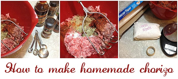 How to make homemade chorizo from This Mama Cooks! On a Diet - thismamacooks.com