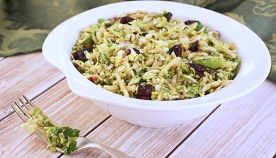 Brussels Sprout and Apple Slaw with Balsamic Vinaigrette