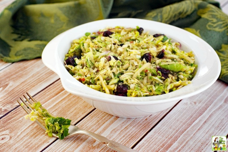 Make Brussels sprout slaw for holiday meals or weeknight dinners.