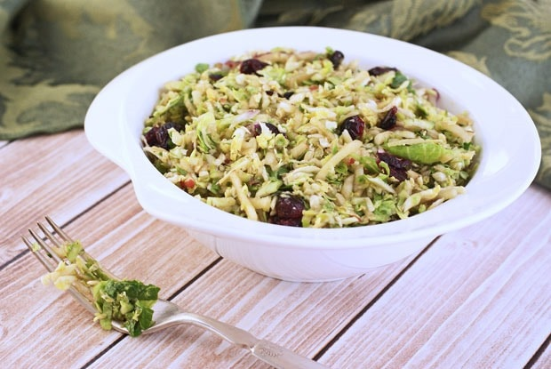 Brussels Sprout and Apple Slaw with Balsamic Vinaigrette from This Mama Cooks! On a Diet - thismamacooks.com
