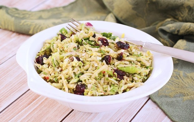 Healthy Brussels Sprout and Apple Slaw from This Mama Cooks! On a Diet - thismamacooks.com
