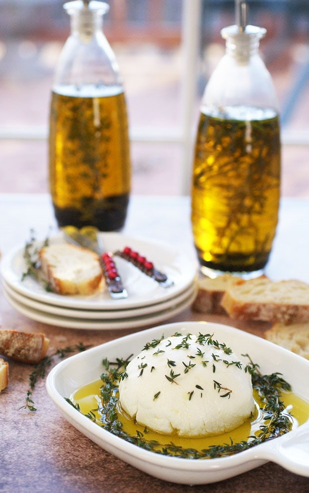 Goat Cheese in Infused Olive Oil at This Mama Cooks! On a Diet - thismamacooks.com