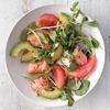 Grapefruit, Salmon, and Avocado Salad
