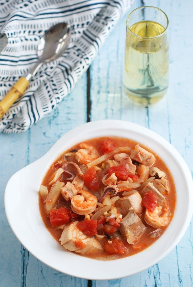 Healthy Cioppino Fish Soup at This Mama Cooks! On a Diet - thismamacooks.com