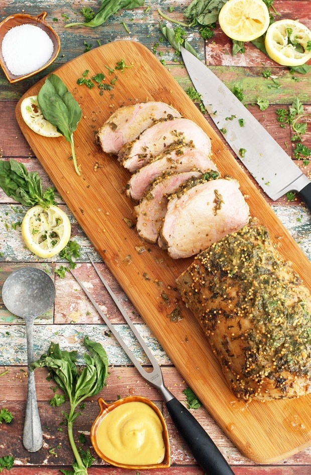 Basil Marinated Pork Roast at This Mama Cooks! On a Diet - thismamacooks.com