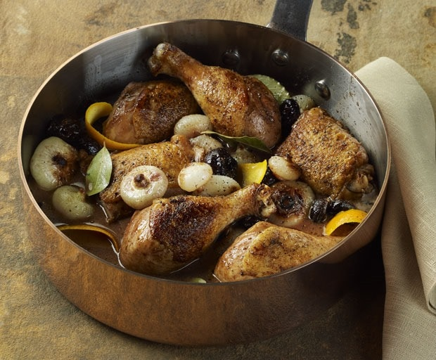 Chicken Drumsticks and Thighs with Prunes and Onions in Marsala Orange Sauce at This Mama Cooks! On a Diet - thismamacooks.com