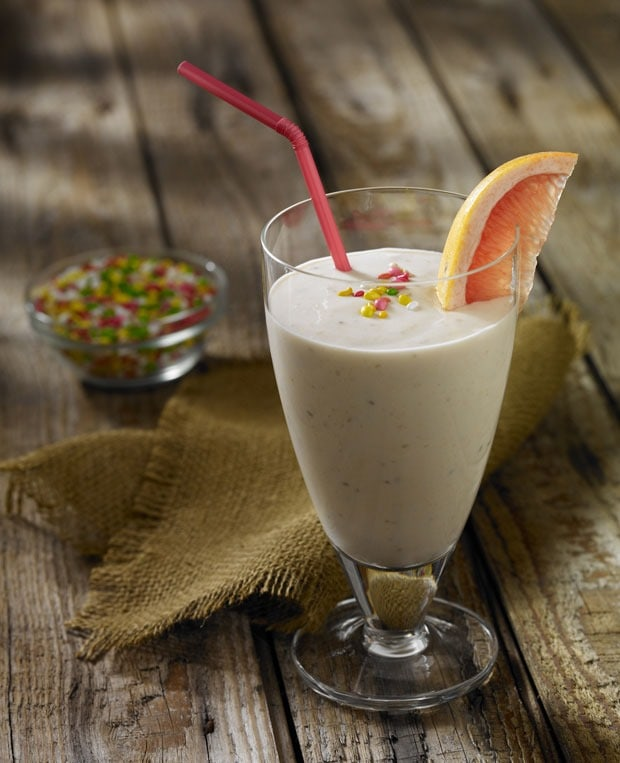 Grapefruit Yogurt Smoothie with Fennel Seed from This Mama Cooks! On a Diet - thismamacooks.com