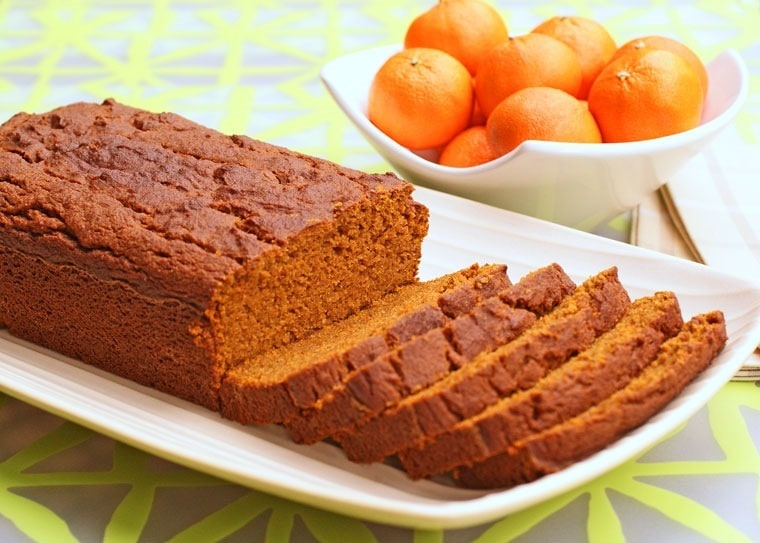 Gluten Free Orange Pumpkin Bread from This Mama Cooks! On a Diet - thismamacooks.com