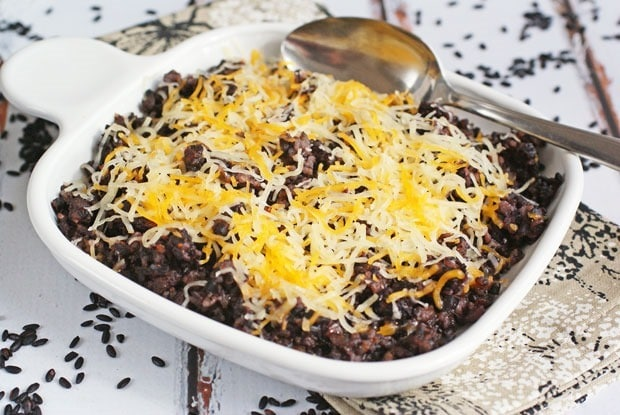 Easy One Pot Black Rice and Chorizo Casserole from This Mama Cooks! On a Diet