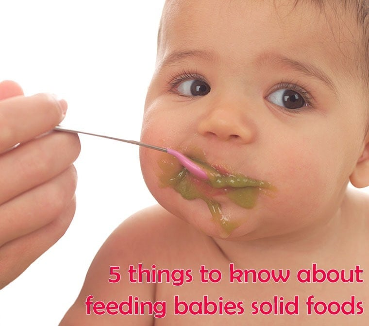 5 things to know about feeding babies solid foods from This Mama Cooks! On a Diet - thismamacooks.com