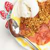 Gluten Free Strawberry Rhubarb Crisp