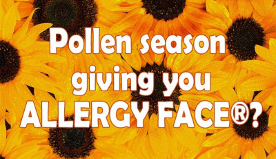 Is pollen season giving you ALLERGY FACE®?