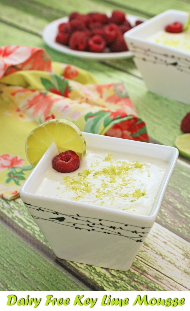 Dairy Free Key Lime Mousse is also gluten free and sugar free. Find the recipe at This Mama Cooks! On a Diet - thismamacooks.com