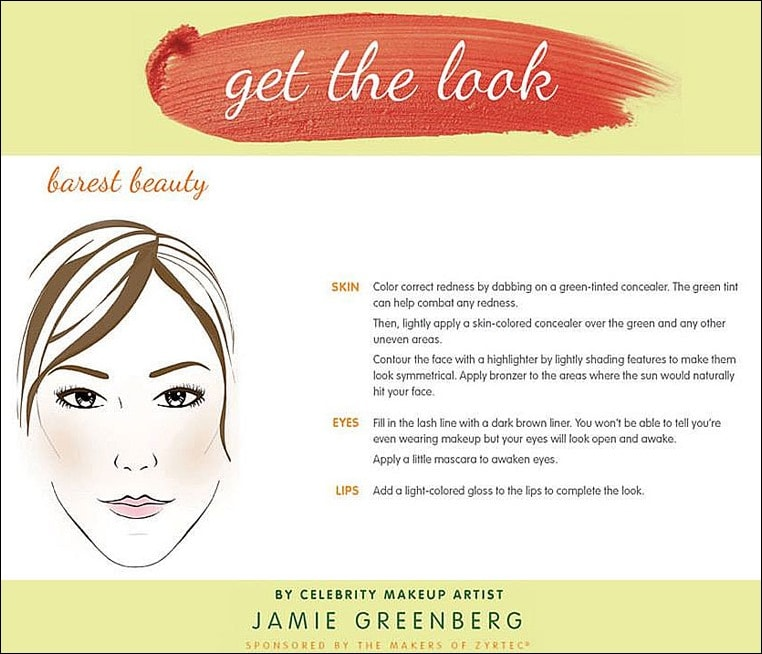Get the look to combat ALLERGY FACE™ from celebrity makeup artist Jamie Greenberg