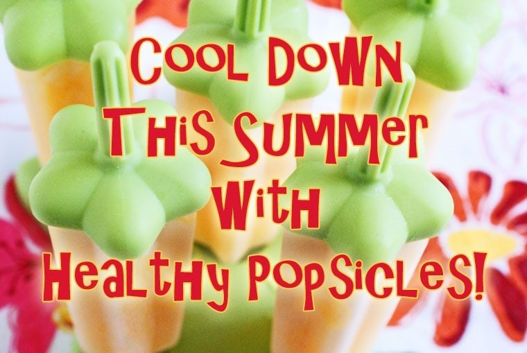 Cool down this summer with healthy popsicles recipe roundup at This Mama Cooks! On a Diet - thismamacooks.com