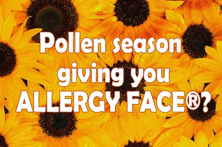 Is pollen season giving you ALLERGY FACE™? from This Mama Cooks! On a Diet - thismamacooks.com