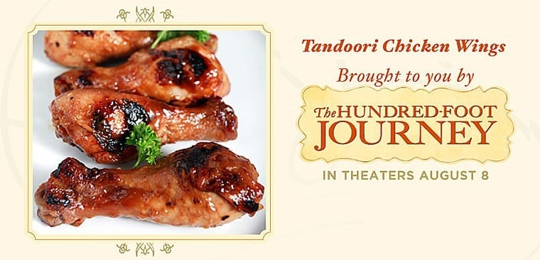 Tandoori Chicken Wings from The Hundred-Food Journey and This Mama Cooks! On a Diet - thismamacooks.com