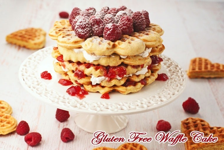 Gluten Free Waffle Cake at This Mama Cooks! On a Diet - thismamacooks.com