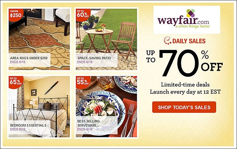 Save money on summer entertaining with Wayfair Daily Sales! at This Mama Cooks! On a Diet - thismamacooks.com