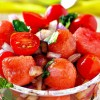 Easy Watermelon Tomato Basil Salad recipe