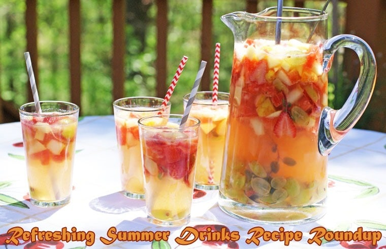 Refreshing Summer Drinks Recipe Roundup at This Mama Cooks! On a Diet - thismamacooks.com