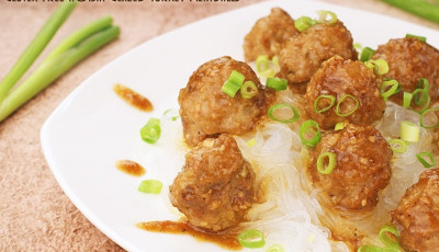 Gluten Free Hoisin Glazed Turkey Meatballs