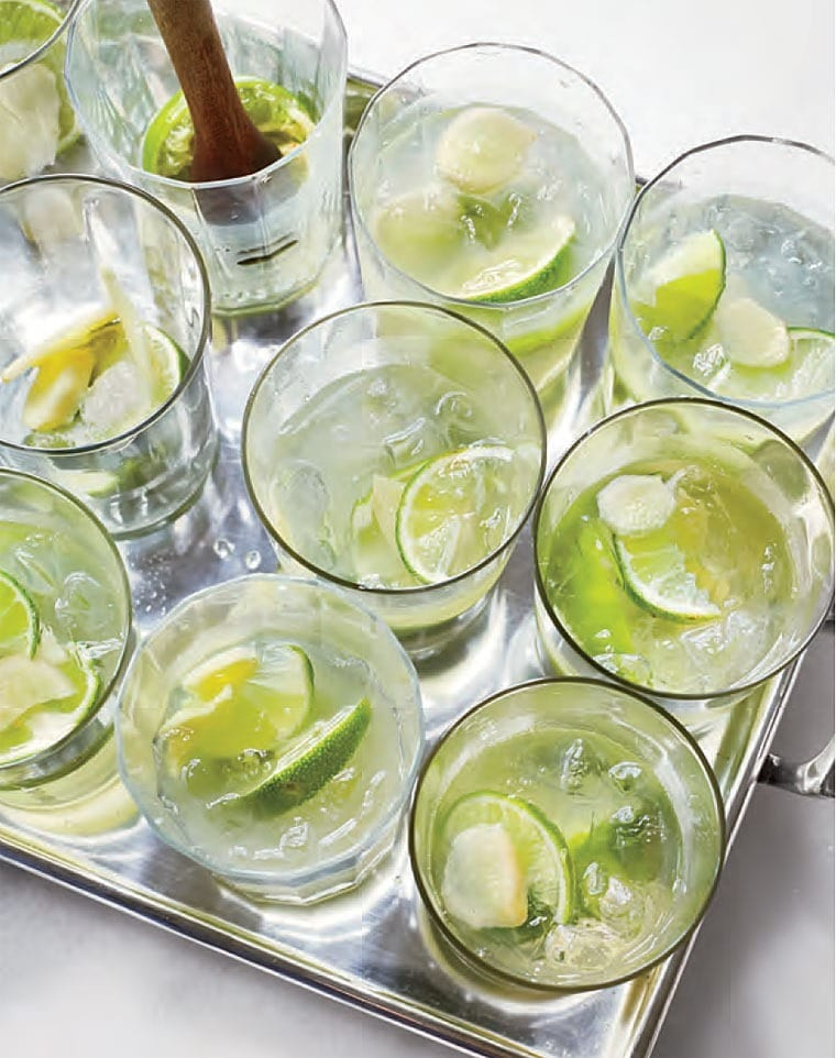 Ginger Caipirinhas Cocktail