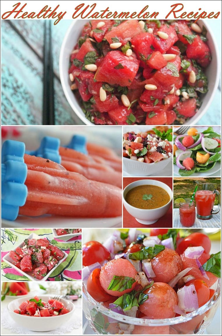 Best healthy watermelon recipes at This Mama Cooks! On a Diet - thismamacooks.com