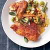 Pressed Chicken with Okra Succotash