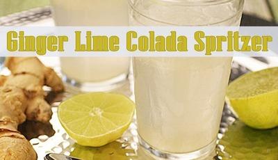Ginger Lime Colada Spritzer