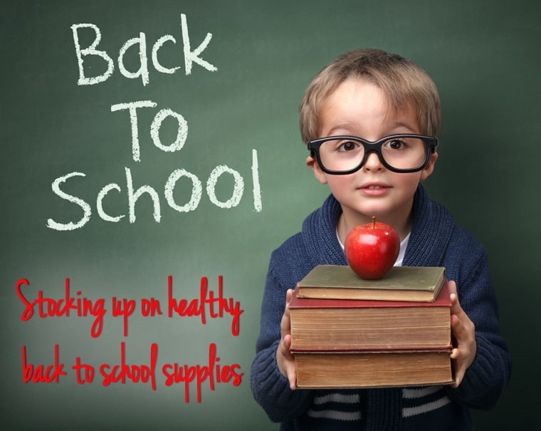 Stocking up on healthy back to school supplies at This Mama Cooks! On a Diet - thismamacooks.com