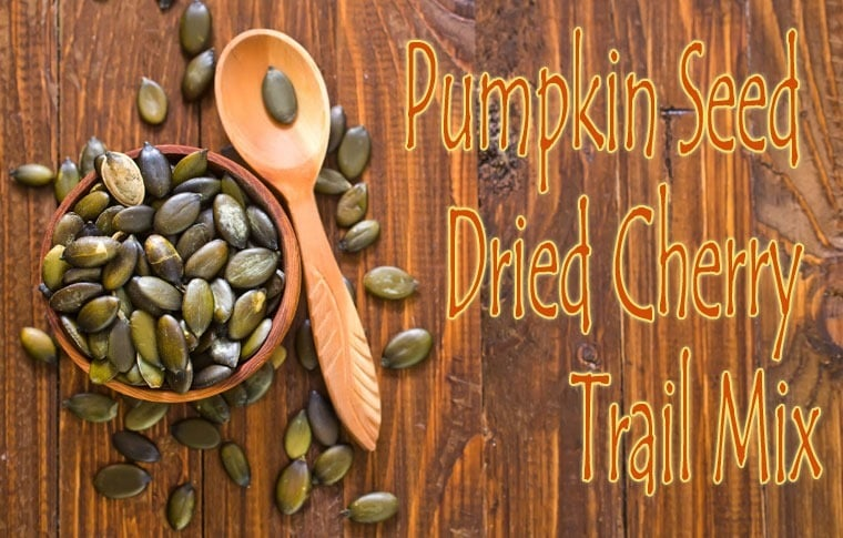 A healthy recipe for Pumpkin Seed Dried Cherry Trail Mix at This Mama Cooks! On a Diet - thismamacooks.com