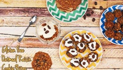 Gluten Free Oatmeal Raisin Cookie Bites