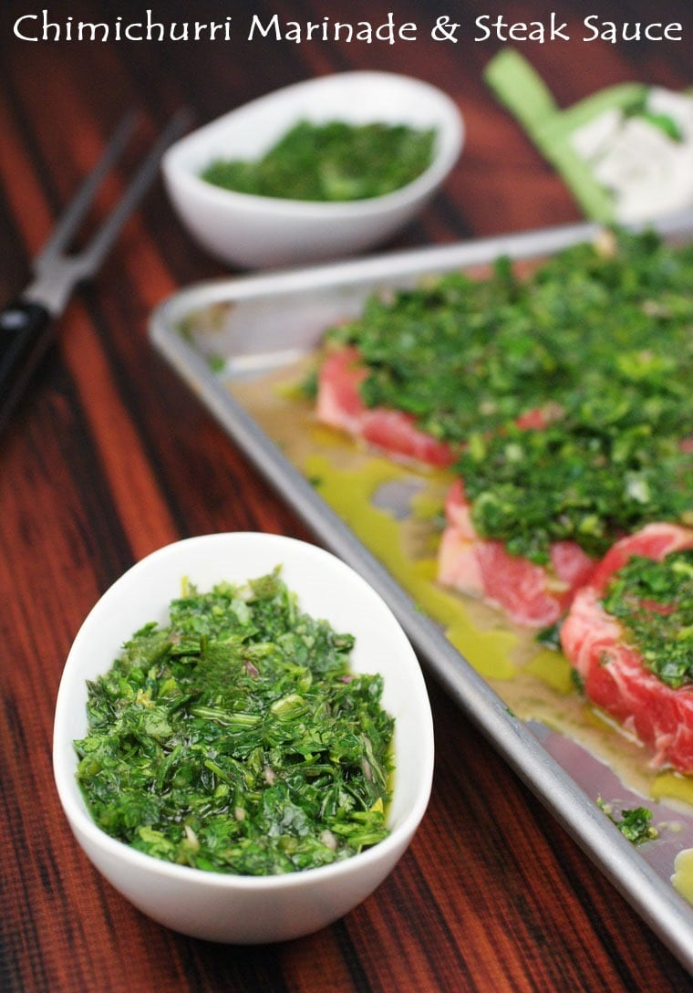 Chimichurri Marinade & Steak Sauce at This Mama Cooks! On a Diet - thismamacooks.com