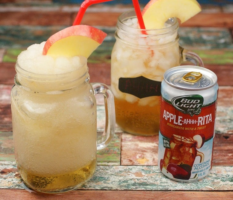 Fall entertaining with Bud Light Lime Apple-Ahhh-Rita at This Mama Cooks! On a Diet