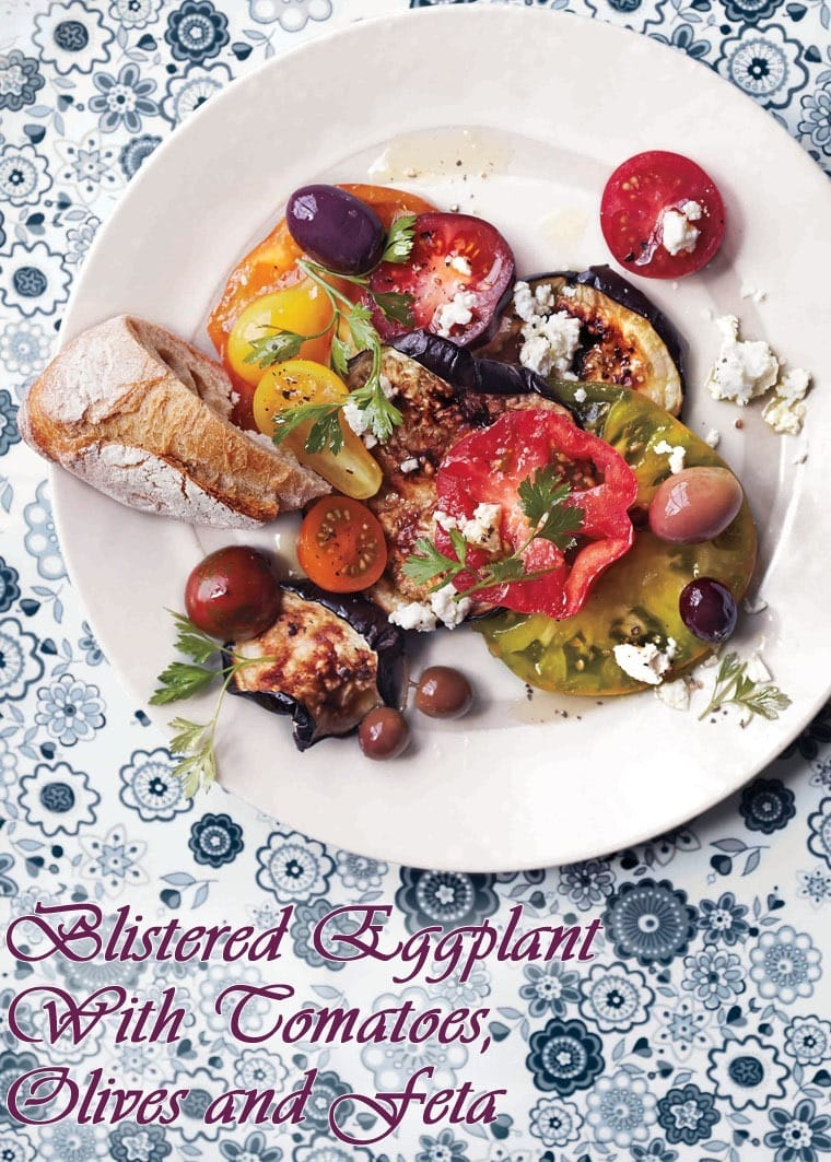 Blistered Eggplant with Tomatoes, Olives and Feta at This Mama Cooks! On a Diet - thismamacooks.com