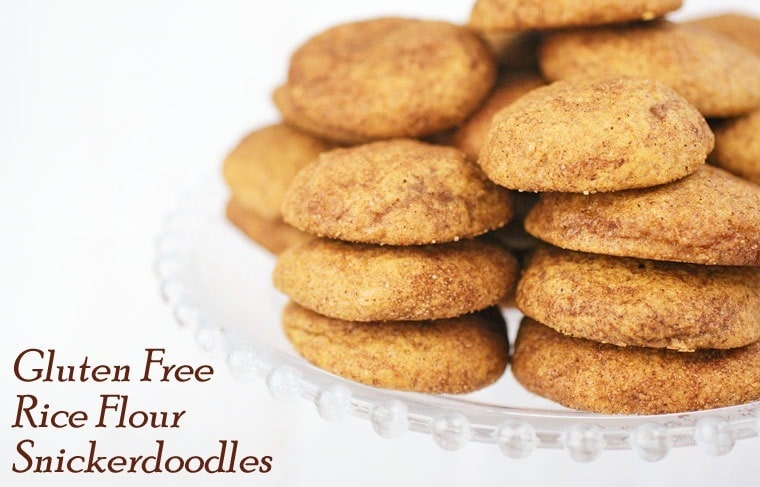 Gluten Free Rice Flour Snickerdoodles at This Mama Cooks! On a Diet - thismamacooks.com