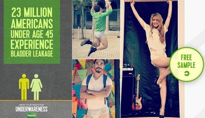 Get a free sample of Depend and #DropYourPants to help raise #Underwareness