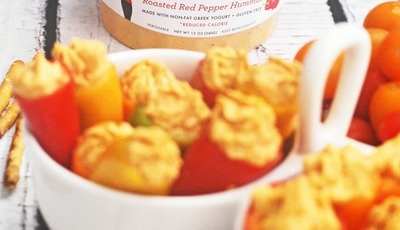Skinnygirl Hummus Stuffed Mini Sweet Peppers