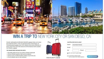 Win a family trip and making traveling easier with Atlantic Luggage