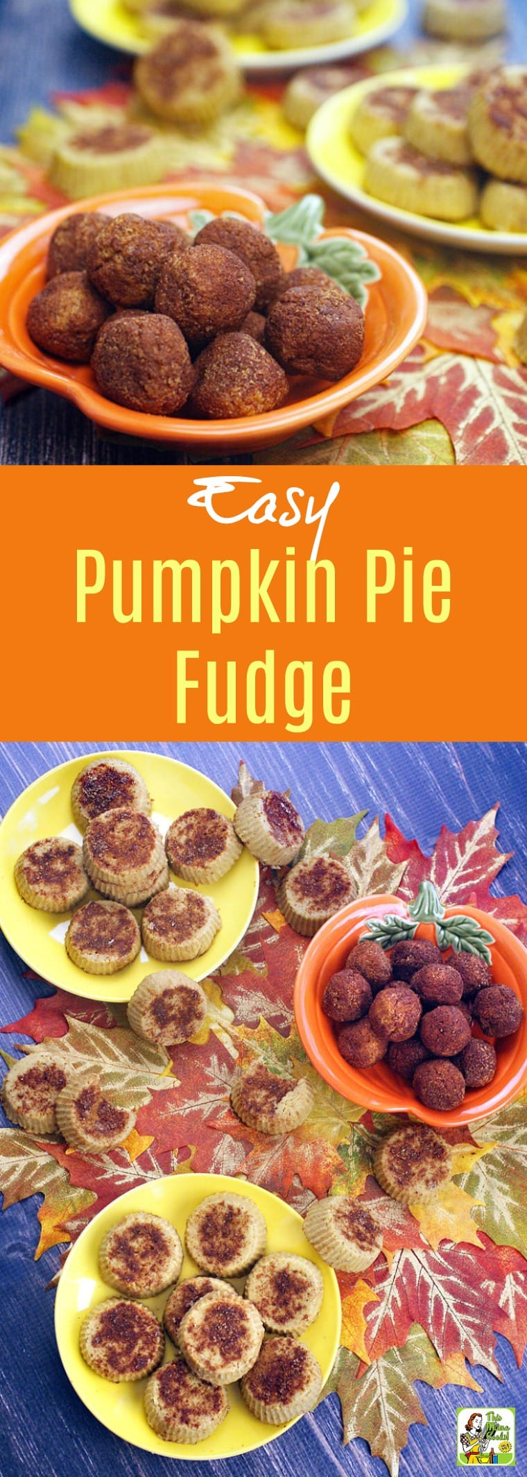 Want to make pumpkin fudge without dairy? This Easy Pumpkin Pie Fudge recipe is dairy free and low in sugar. Can be made in two ways: into Pumpkin Pie Fudge Balls or Pumpkin Pie Fudge Mini Pies. This pumpkin dessert recipe that's made with coconut butter is vegan and gluten free.
