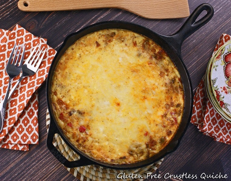 Gluten Free Crustless Quiche at This Mama Cooks! On a Diet - thismamacooks.com