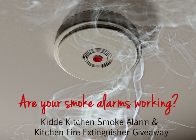 Are your smoke alarms working? {Kidde Kitchen Smoke Alarm and Kitchen Fire Extinguisher Giveaway} at This Mama Cooks! On a Diet - thismamacooks.com