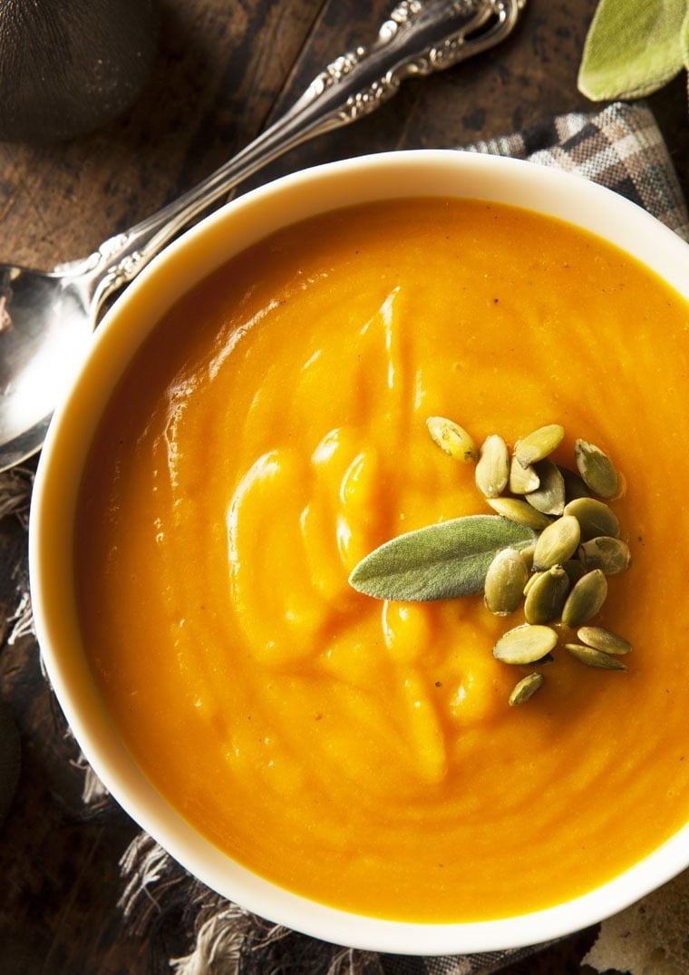 Healthy, homemade, dairy free Butternut Squash Soup from This Mama Cooks! On a Diet - thismamacooks.com