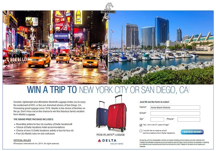 Win a family trip and making traveling easier with Atlantic Luggage at This Mama Cooks! On a Diet - thismamacooks.com