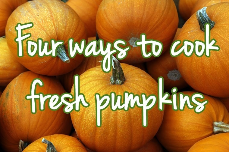 Four ways to cook a fresh pumpkin. Learn how at This Mama Cooks! On a Diet - thismamacooks.com